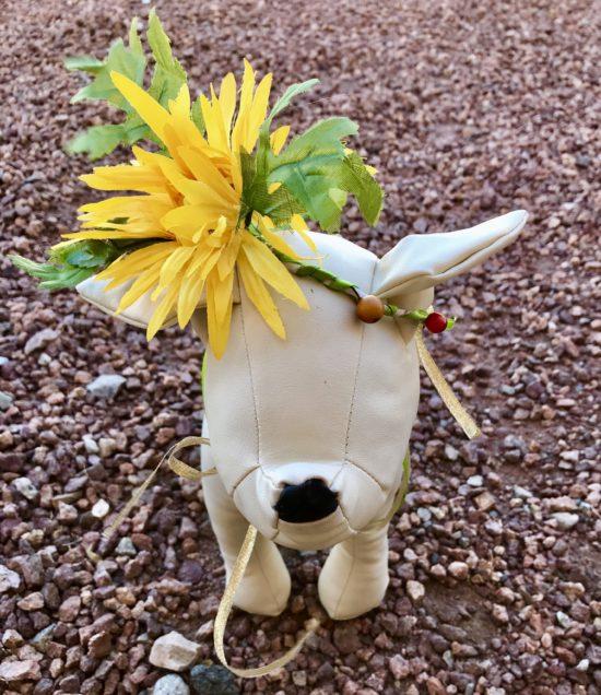 Boho flower girl dog hair wreath with dandelion silk flowers mightylinksfo